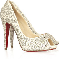 Christian Louboutin Studio 120 peep-toe pumps - $236.00
