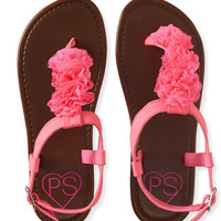PS from Aero  Kids' Lace Rosette T-Strap Sandals