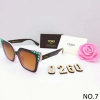 FENDI trendy brand men and women casual sunglasses F-8090-YJ NO.7