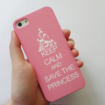 SALE 80-20%OFF: Keep Calm and Save the Princess in sweet pink iPhone 5 protective cases with Easy and simple for Iphone 5