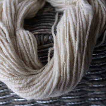 Natural Yarn Collection - Handspun Undyed Alpaca and BFL Blend Hand-Carded