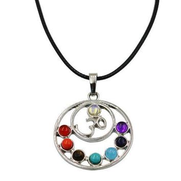 Hinduism Mandala Zen Tree Of Life Healing Reiki Meditation 7 Chakras Necklaces&Pendants Yoga Jewelry collier femme  bijoux Women style13