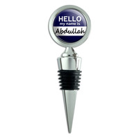 Abdullah Hello My Name Is Wine Bottle Stopper
