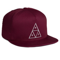 HUF - TRIPLE TRIANGLE SNAPBACK SP14 // BURGUNDY