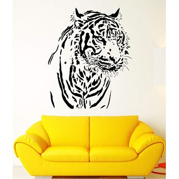Wall Decal Predator Animal Wild Cat Tiger Amur Beast Vinyl Decal Unique Gift (ed367)