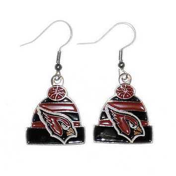 Arizona Cardinals Beanie Hat Dangle Earrings