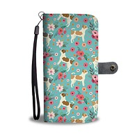 Chihuahua Flower Wallet Phone Case