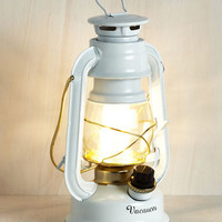Dorm Decor Try as I Light Lantern in White by ModCloth