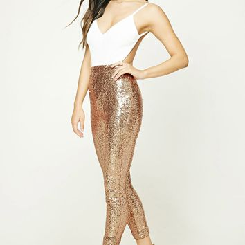 Sequin Velour Cami Jumpsuit
