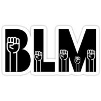 'BLM - Black Lives Matter Fists Raised' Sticker by Black Lives Still Matter