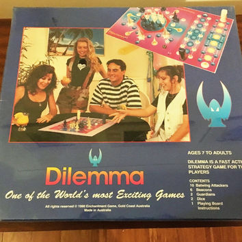 "Vintage 1990 Board Game ""Dilemma"" Strategy Game / Unopened in Box / Made in Australia"