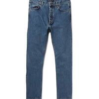 Balenciaga - Slim-Fit Cropped Stonewashed Denim Jeans