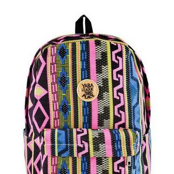 Designer Tribal Canvas Backpack