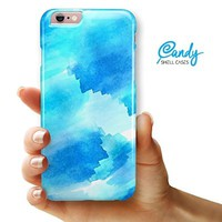"""Abstract Blue Stroked Watercolour iPhone 6 & iPhone 6s (4.7"""" iPhone) Ultra Gloss Candy Shell Case"""