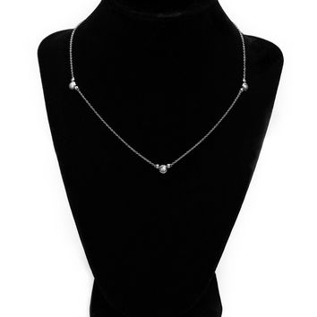 Triple Set Diamond Necklace (Includes 10 diamonds)