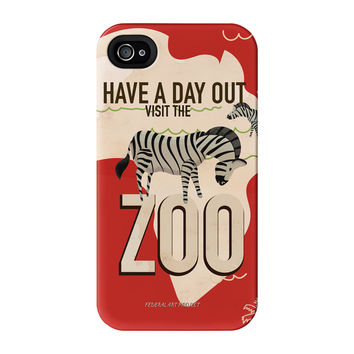 Zoo - Zebra Full Wrap High Quality 3D Printed Case for iPhone 4 / 4s by Nick Greenaway