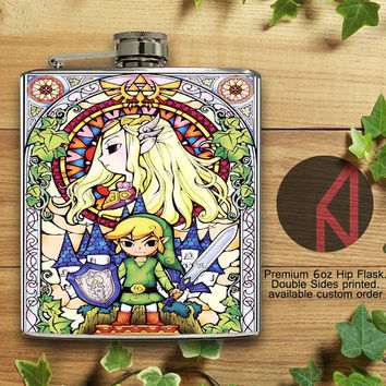 The Legend Of Zelda 6oz and 8oz Hip Flask