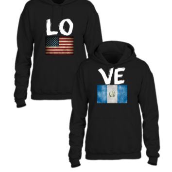 american guatemala flag love couple design