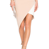 Lovers + Friends x REVOLVE Mademoiselle Skirt in Nude