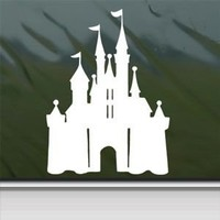 Disney White Sticker Decal Castle Magic Kingdom White Car Window Wall Macbook Notebook Laptop Sticker Decal