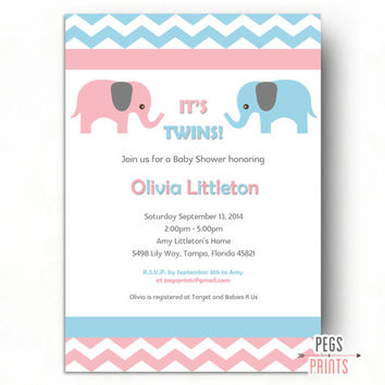 best baby girl elephant baby shower invites products on wanelo, Baby shower invitation