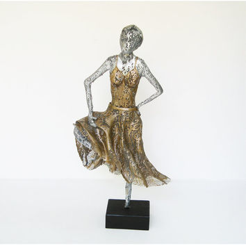 Metal art - Ballet dancer - wire mesh - home decor - Contemporary art - Metal Sculpture