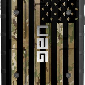 """LIMITED EDITION - Authentic UAG- Urban Armor Gear Case for Apple iPhone 8/ 7/ 6s/ 6 (Standard 4.7"""") Custom by EGO Tactical- Subdued US Flag over Multicam / Scorpion Camouflage"""