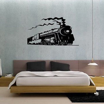 Train Locomotive Nursery Room Wall art Sticker Decal t03