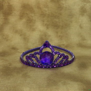 Crown - Tiara - Purple - Princess - Purple Wedding - Bridal Accessories - Hair Accessories - Womens Birthday - Headpiece