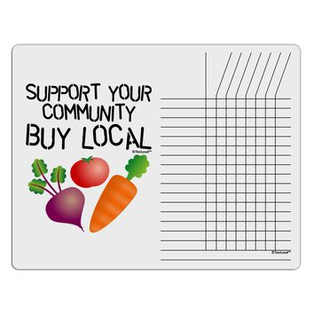 Support Your Community - Buy Local Chore List Grid Dry Erase Board
