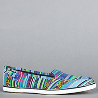 The Surfer Baja Stripe Sneaker in Blue Green Multi