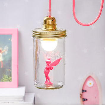 Pink Fairy In A Jar Light