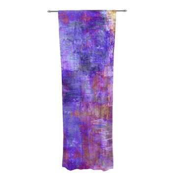 "Ebi Emporium ""Purple Fog"" Purple Painting Decorative Sheer Curtain"