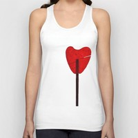 Sweet heart Unisex Tank Top by anabprego
