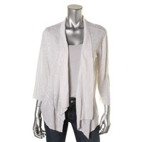 Alfani Womens Linen Sheer Cardigan Top