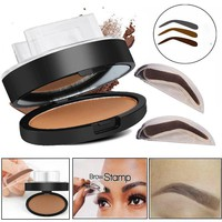 Natural Eyebrow Powder Makeup Brow Stamp Palette Delicated Shadow Definition