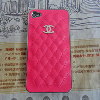Fashion chanel iphone 4 4S hard Case cover for iPhone 4 Case, iPhone 4S Case,iPhone 4 GS case ,iPhone hand  case cover  -215