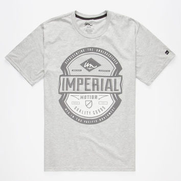 Imperial Motion Dorian Mens T-Shirt Heather Grey  In Sizes