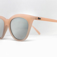 Quay Isabell Pink Sunglasses, Mirror Lenses