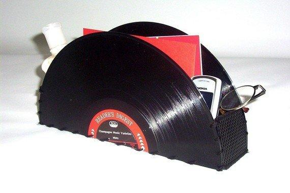 Vinyl Record Storage Container for Home or Office by retrograndma