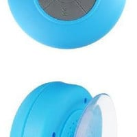 Waterproof Wireless Bluetooth Stereo Speaker Blue