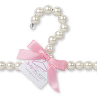 White Pearl Pant/Skirt Hanger (Small Bead) - Hangers Couture LLC