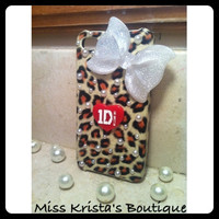 One Direction iPhone 4 leopard case
