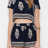 Tropical Two-Piece Set - Navy