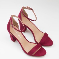Bella Block Heel - Red - Madden Girl
