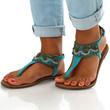Sand In My Toes Sandals: Teal