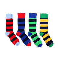 Mid-Calf Socks // Wide Stripes // Pack of 4