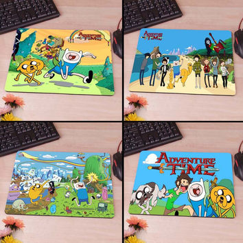 Adventure Time beemo jake finn bacon Computer Mouse Pad Mousepad Decorate Your Desk Non-Skid Rubber Pad