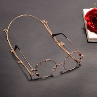1pc Vintage Women Gothic Steampunk Lolita Glassess Goggles with Chain Gear Party Cosplay Accessory