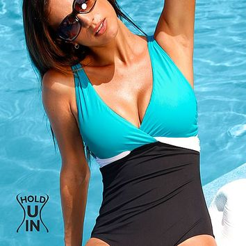 Colorblock one piece from VENUS Swimsuit Selection